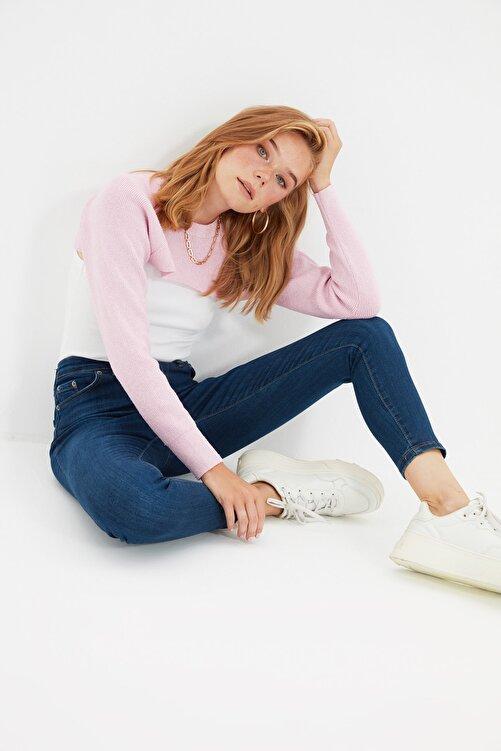 TRENDYOLMİLLA Lacivert Yüksek Bel Skinny Jeans TWOSS20JE0302 2