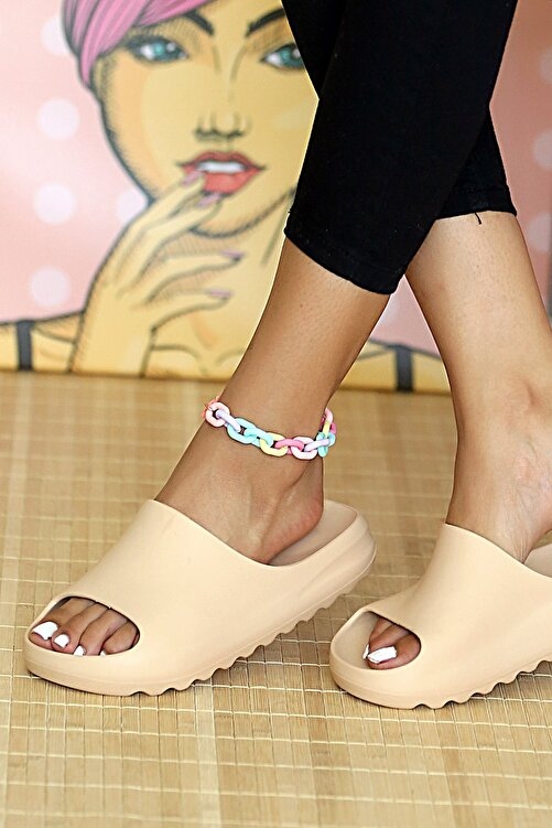 Pembe Potin Kadın Nut Sandalet 1