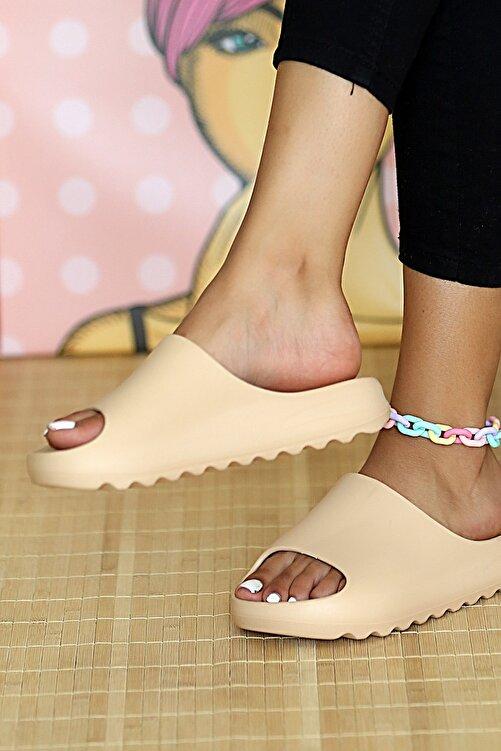 Pembe Potin Kadın Nut Sandalet 2
