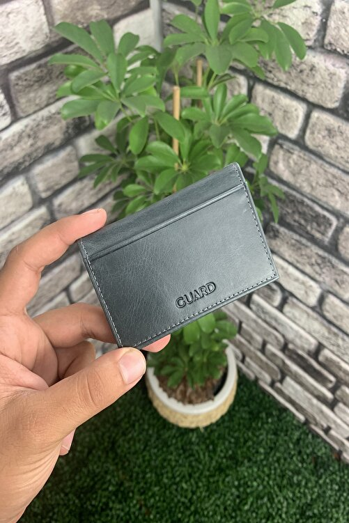 GUARD Antik Siyah Deri Kartlık 1