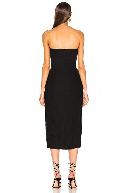 By Umut Design Kadın Önden Yırtmaçlı Straplez Elbise 4537821 2