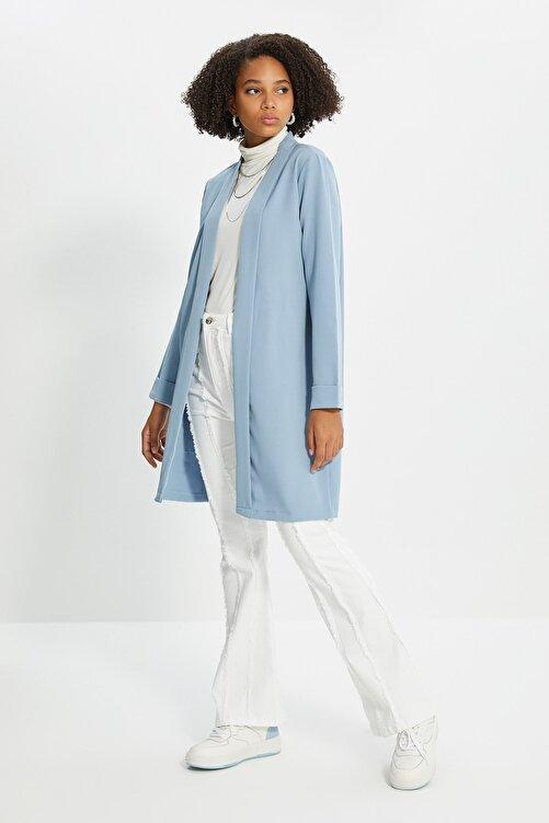 Trendyol Modest Mavi Ceket Tesettür Ceket TCTSS21CE0420 2