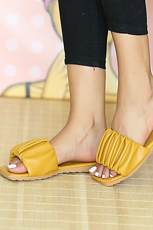 Pembe Potin Kadın Hardal Sandalet 2
