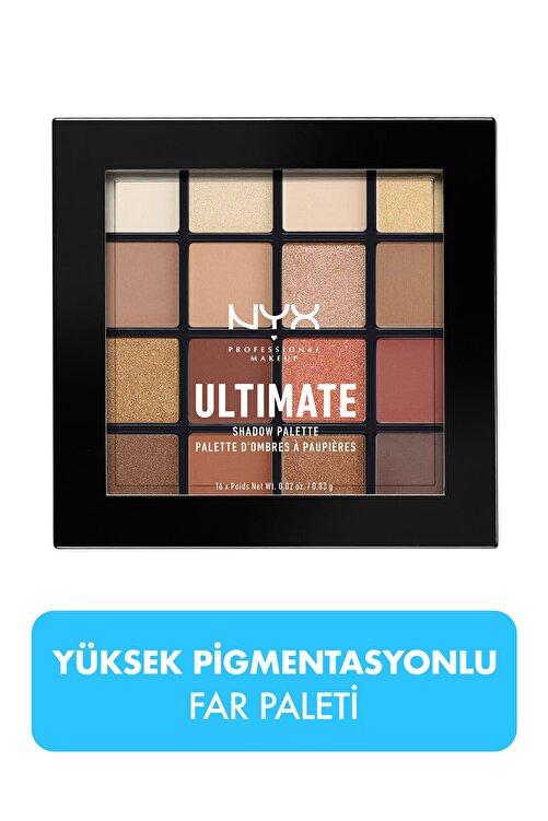 NYX Professional Makeup Göz Farı Paleti - Ultimate Shadow Pallette Warm Neutrals 800897017644 1