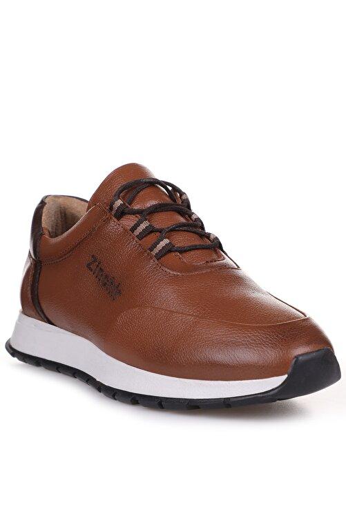 Freemax Taba Kahve İç Dış Komple Hakiki Deri Ortopedik İç Taban Spor Sneaker Erkek Ayakkabı 1