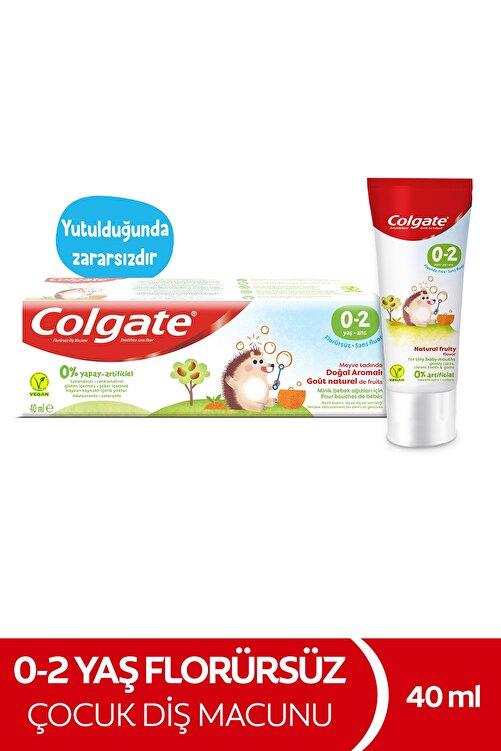 Colgate 0-2 Yaş Doğal Meyve Tadında Florürsüz Çocuk Diş Macunu 40 ml 1
