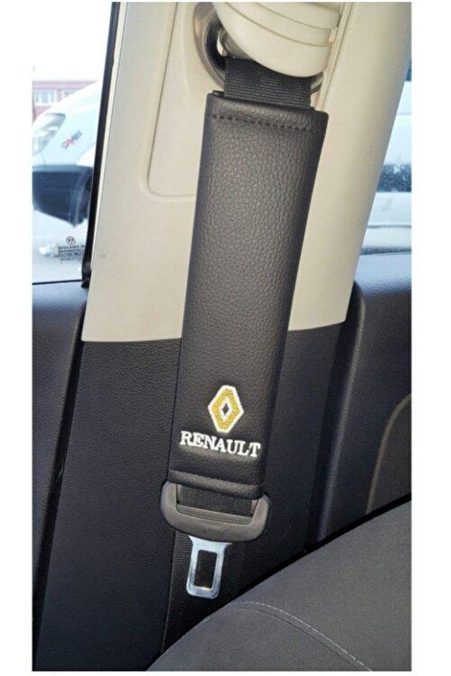 TCE Renault Deri Emniyet Kemer Kılıfı Siyah Iki Adet 1