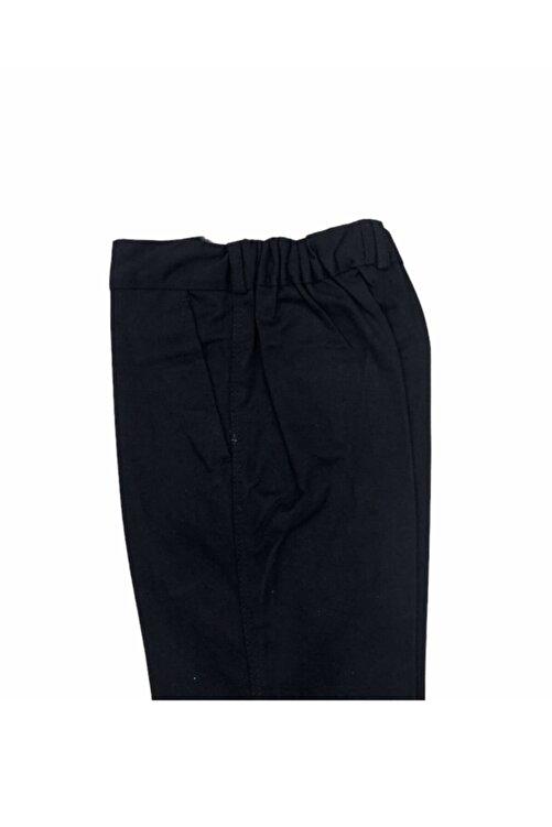 Dıgıl Kids Çocuk Okul Pantalonu Kanvas Yarım Lastik Ilkokul Orta Okul Kaliteli Asaf Siyah 2