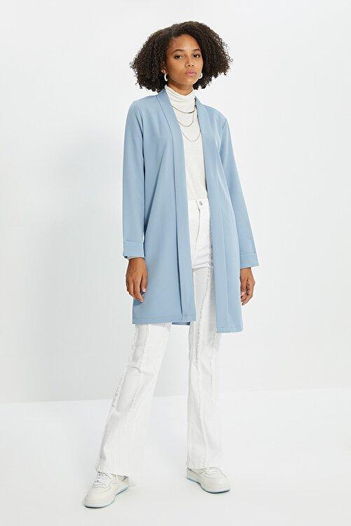 Trendyol Modest Mavi Ceket Tesettür Ceket TCTSS21CE0420 1