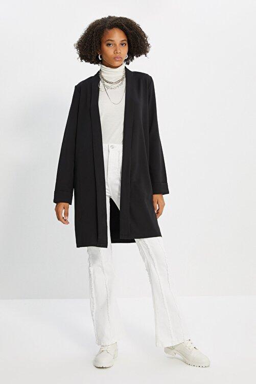 Trendyol Modest Siyah Ceket TCTSS21CE0420 1