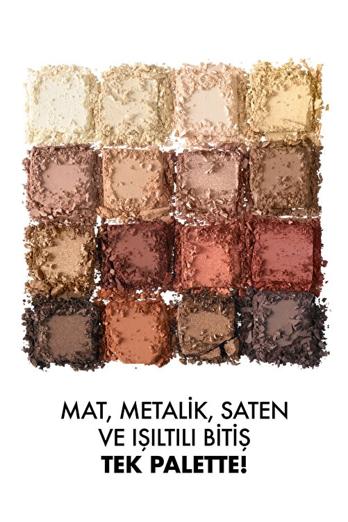 NYX Professional Makeup Göz Farı Paleti - Ultimate Shadow Pallette Warm Neutrals 800897017644 2