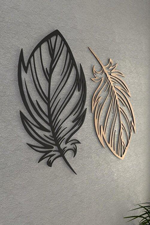 pi10reklam Kuş Tüyü Ahşap Dekoratif Duvar Dekoru Modena Siyah 1