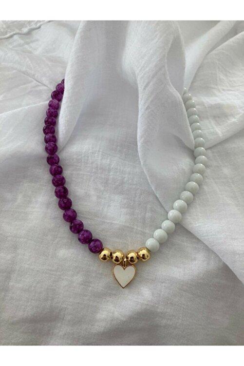 accesory elegance Doğal Taş Kalpli Kolye 2