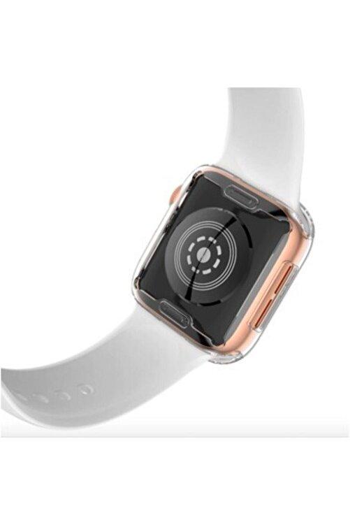 GREGOSS Apple Watch 1 2 3 4 5 6 Se Serisi ( 40mm ) 360 Tam Koruma Şeffaf Silikon Kılıf 2