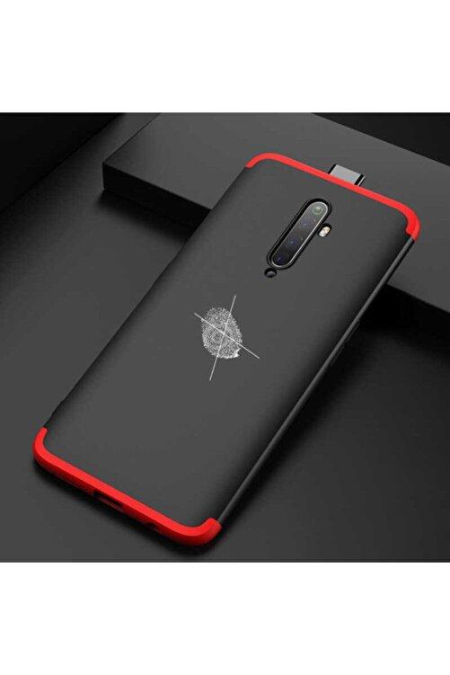 OPPO Reno 2z Full Koruma Silikon Ays Kılıf Siyah/kırmızı 2