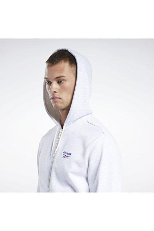 Reebok Unisex Beyaz Cl F Vector Fullzp Sweatshirt 2