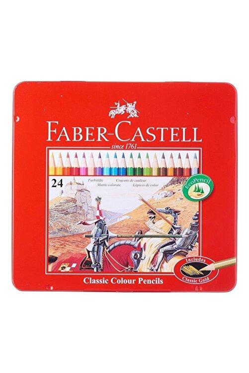 Faber Castell Faber 24 Metal Kutu Uzun Kuru Boya Kalemi 115845 1