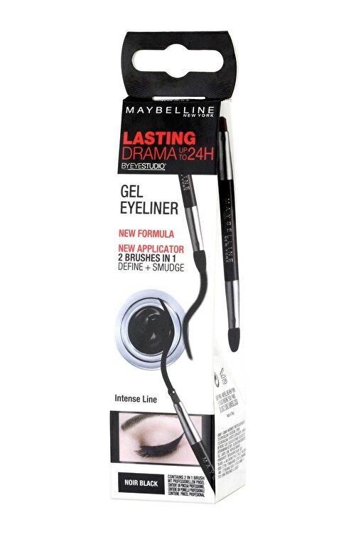 Maybelline New York Dayanıklı Siyah Eyeliner - Eyestudio Lasting Drama Gel Eyeliner 24H 01 Intense Black 3600530588039 1