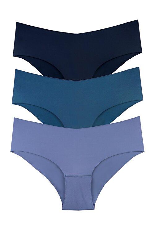 Alaturka Sensu Kadın Lazer Kesim Micro Bikini Model Külot 3lü Paket Set 1