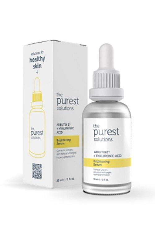 The Purest Solutions Leke Gidermeye Yardımcı Cilt Tonu Eşitleyici Cilt Bakım Serumu 30 ml Arbutin %2 + Hyaluronic Acid 1