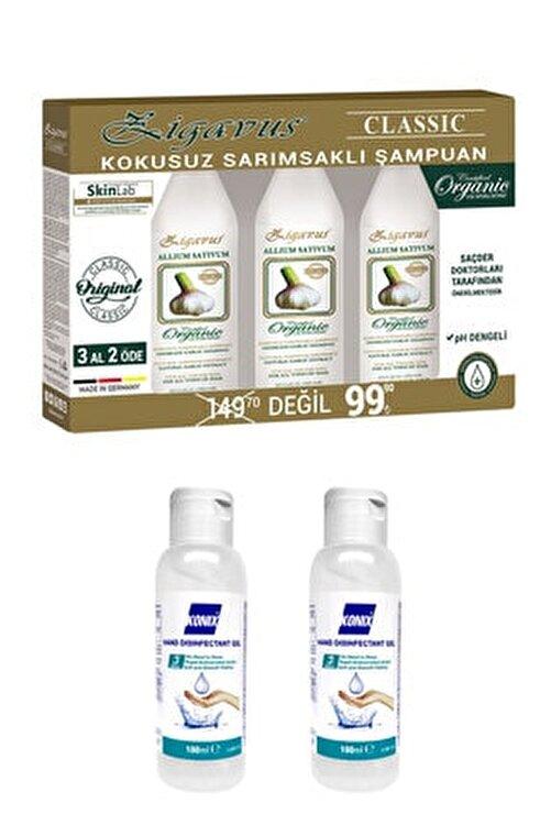 Zigavus Kokusuz Sarımsaklı Şampuan 3 x 250 Ml + Konix Dezenfektan 2 x 100 Ml 1