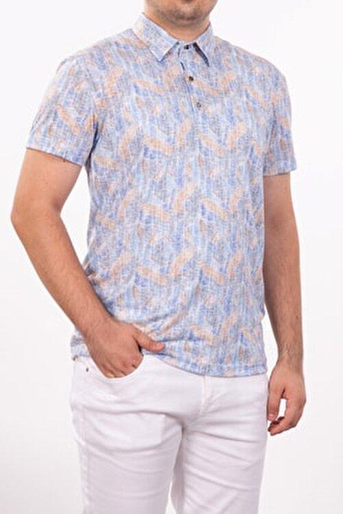 Mondo Polo Yaka Mozaik Desenli T-shirt 2