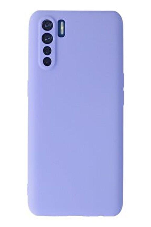 OPPO A91 / Reno 3 Kılıf Premium Rubber Silikon Kapak Ankacep - Lila 1