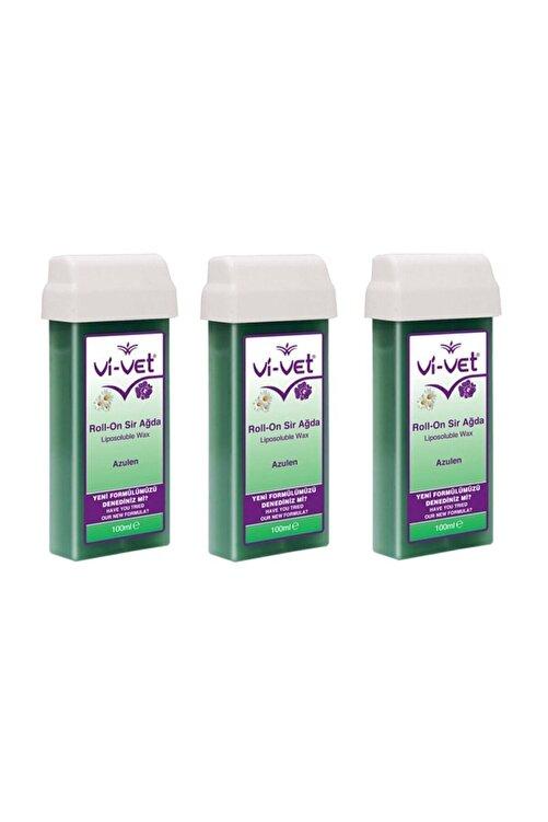 Vi-vet Roll-on Kartuş Sir Ağda Azulen  3 Adet 100 ml 1
