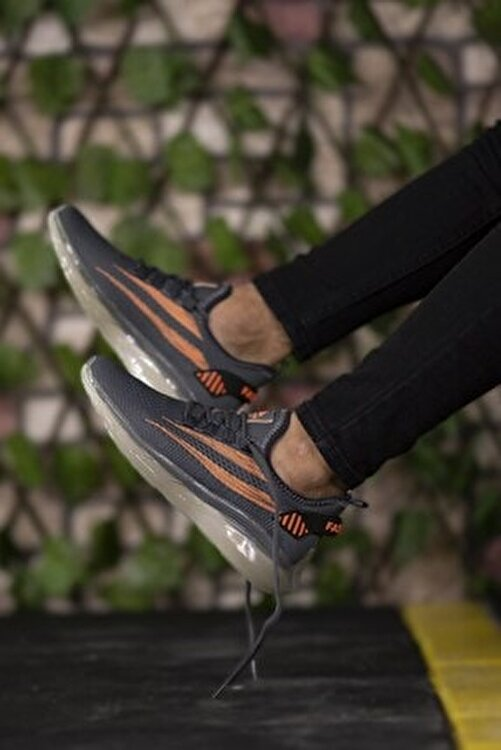 Riccon Füme Turuncu Unisex Sneaker 0012450 1