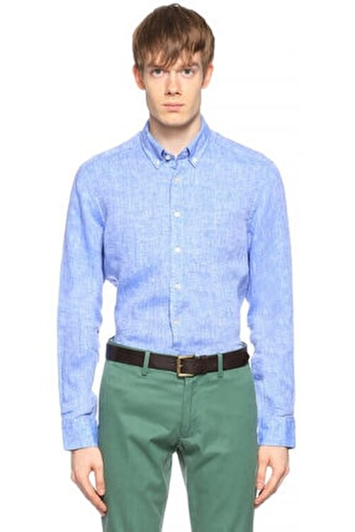 Hackett Erkek Mavi Gömlek 1