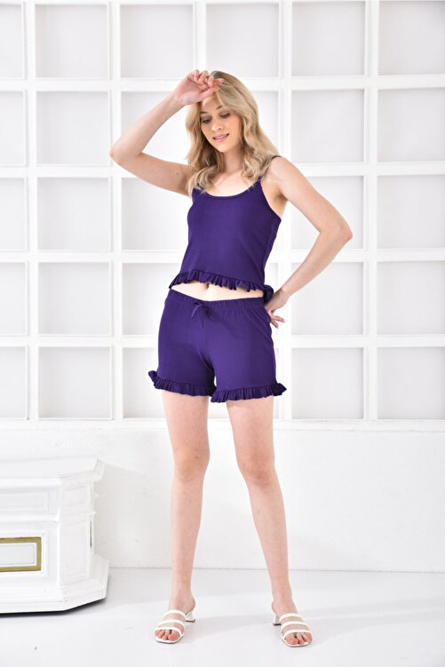 Cicigirls Kadın Ip Askılı Fırfırlı Pijama Takım 1