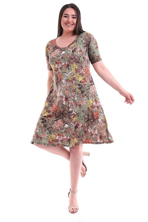 Alesia Çiçek Desenli Viskon Elbise 1