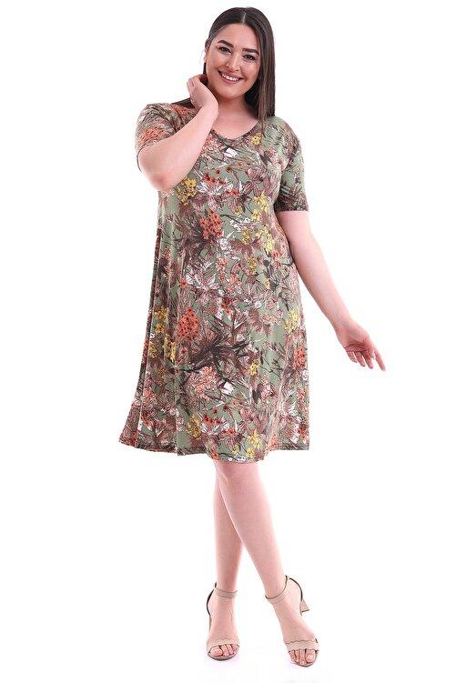 Alesia Çiçek Desenli Viskon Elbise 2