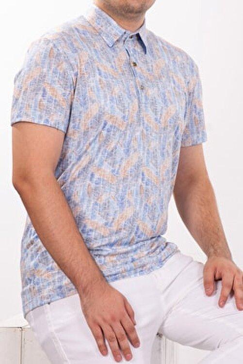 Mondo Polo Yaka Mozaik Desenli T-shirt 1