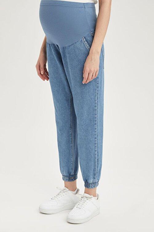 DeFacto Kadın Lacivert Hamile Jogger Fit Jean Pantolon 1