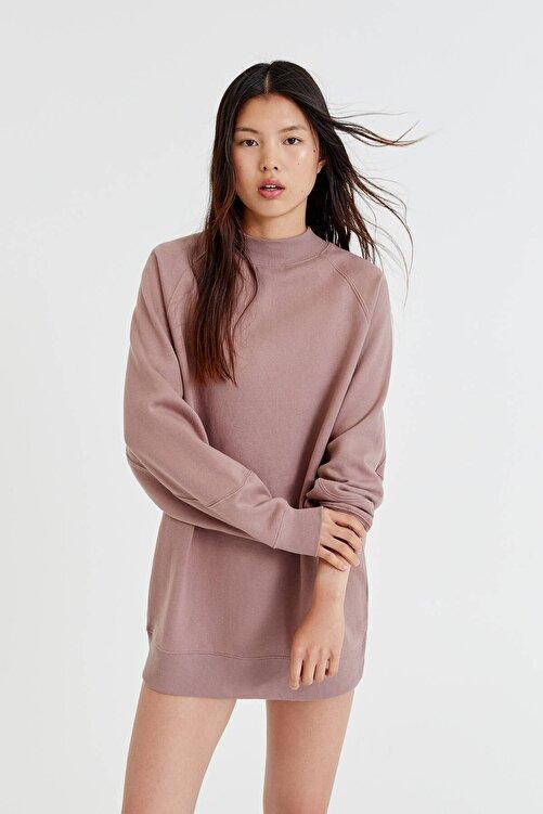 Pull & Bear Uzun Kollu Pamuklu Kumaş Elbise 1