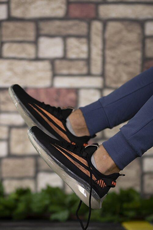 Riccon Siyah Turuncu Unisex Sneaker 0012450 1