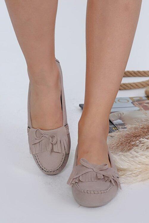 Beyond Kadın Bej Püsküllü Günlük Casual Sneaker Babet Ayakkabı Byndmot03 2