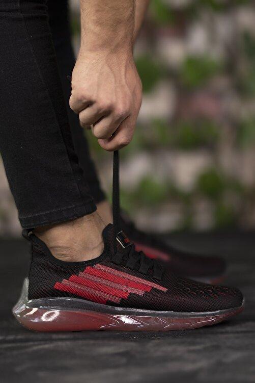 Riccon Siyah Kırmızı Unisex Sneaker 0012340 1