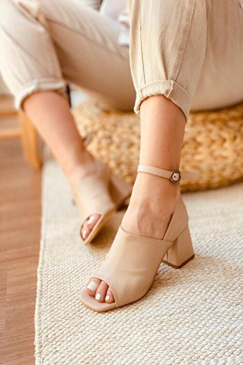 Mida Shoes Ten Deri Topuklu Ayakkabı 1