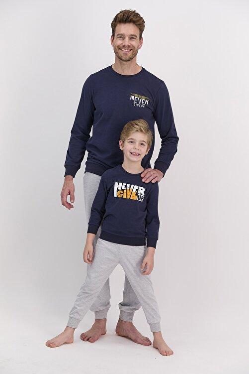 Arnetta Erkek Uzun Kol Yazı Baskılı Pijama Takımı (baba Oğul Kombin Yapılabilir Fiyatları Farklıdır) 1