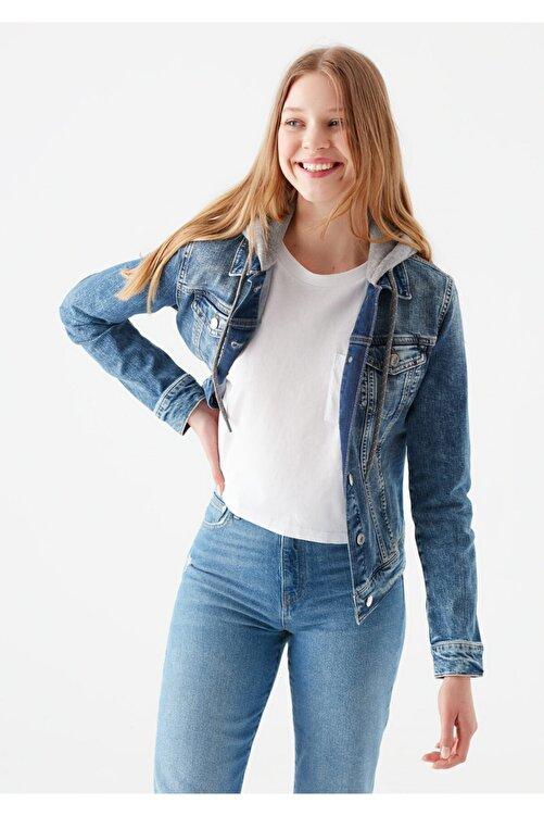 Mavi Kadın Darcy 90 s  Jean Ceket 110196-32066 1