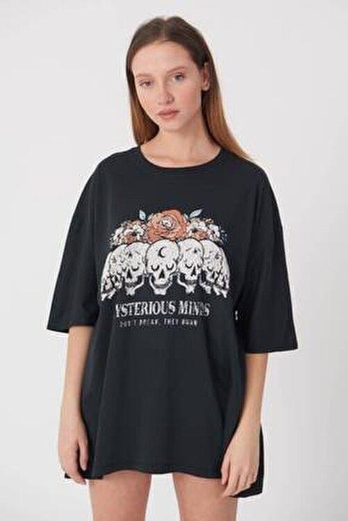 Addax Baskılı T-shirt P9371 - B11 2