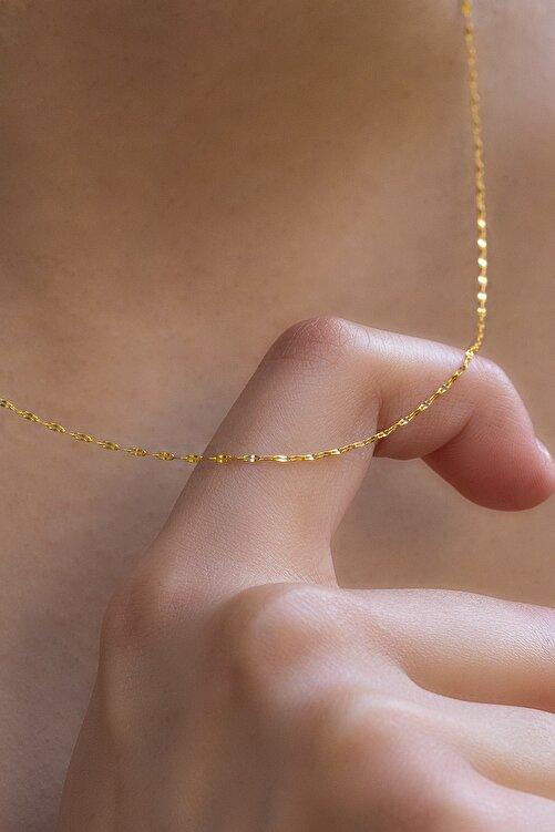 Bayar Gold 14 Ayar Altın İnce Aynalı Zincir Kolye 1