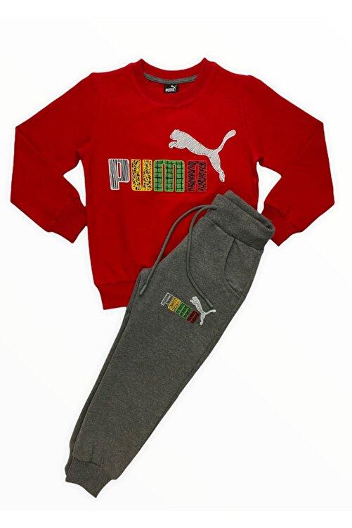 Puma Erkek Çocuk Kırmızı Eşofman Takımı 2