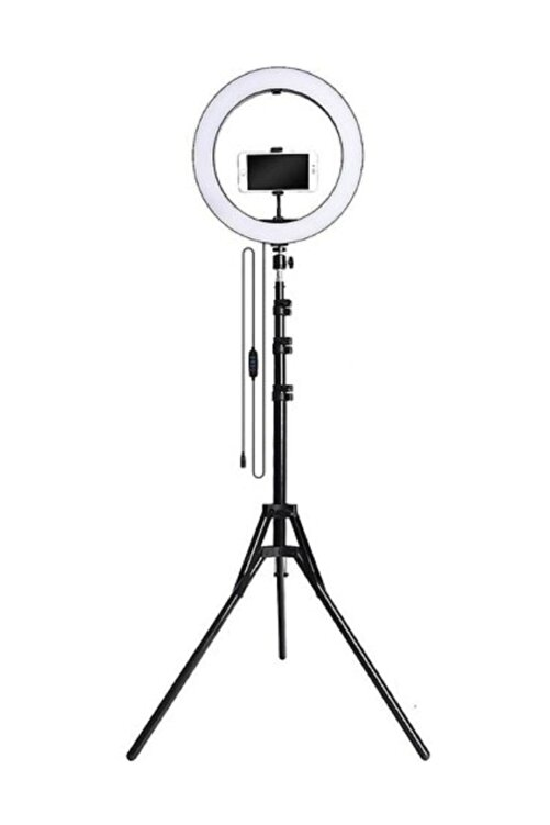 LRSM Led Işıklı Ring Light Tripod Adaptörlü Selfie Makyaj Işığı Youtuber & Kuaför Çekim Işığı 2