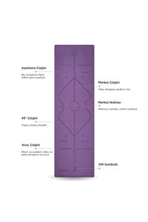 Gymo Hizalamalı 6mm Tpe Yoga Matı Pilates Minderi Mavi 2