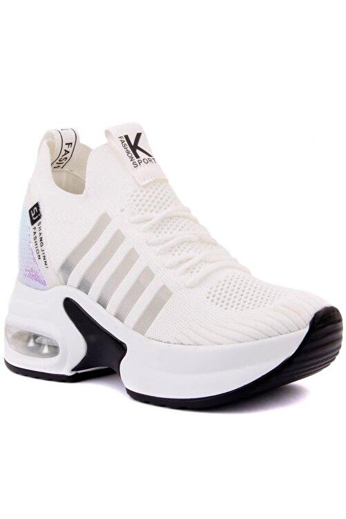 Guja Beyaz Kalın Taban Sneaker 2