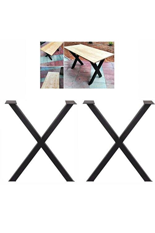 Weblonya Ağaç Masa Kütük Masa Ayağı Metal Ayak 5084 1