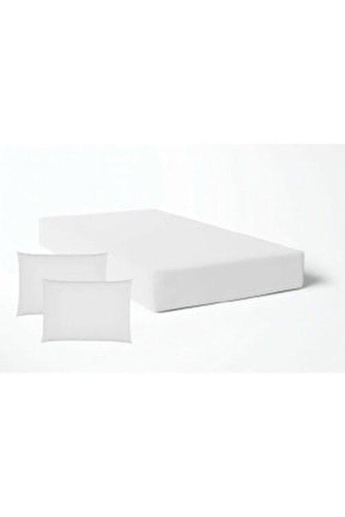 Şahinhome Beyaz Lastikli Çarşaf Takımı -8 Ebat -Çift Kişilik - Tek Kişilik Nevresim Kumaşı 1